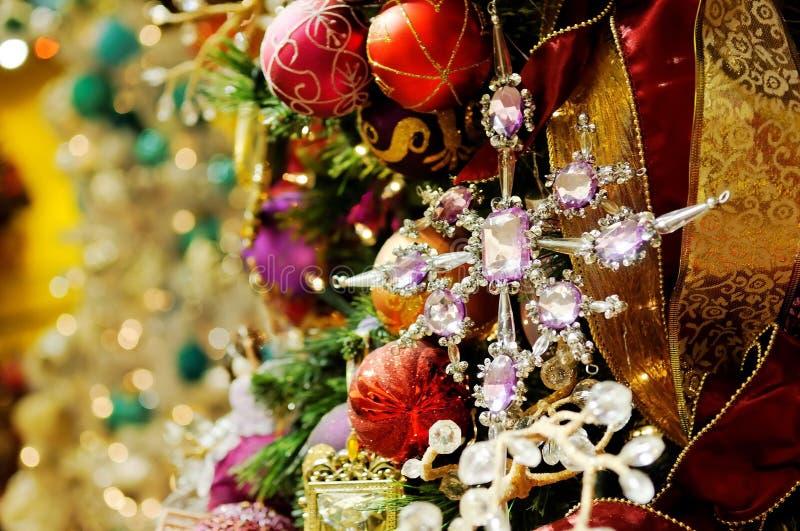 Sortierter Weihnachtsdekor stockfoto