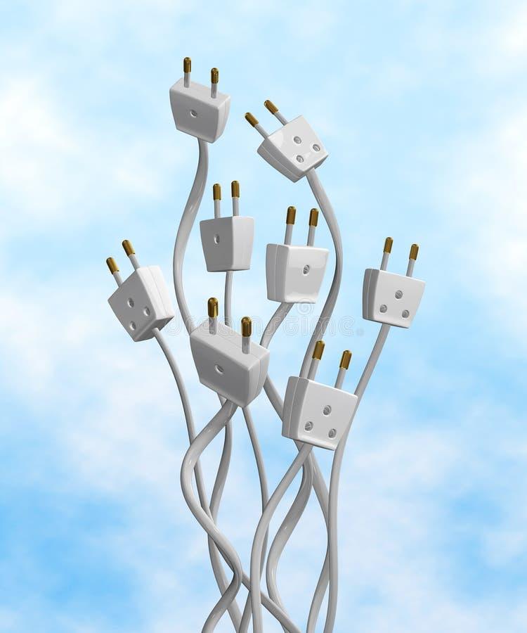 Sorties électriques illustration libre de droits