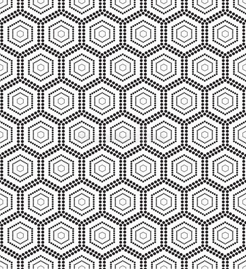 Sortilège monochrome sans couture de modèle illustration de vecteur