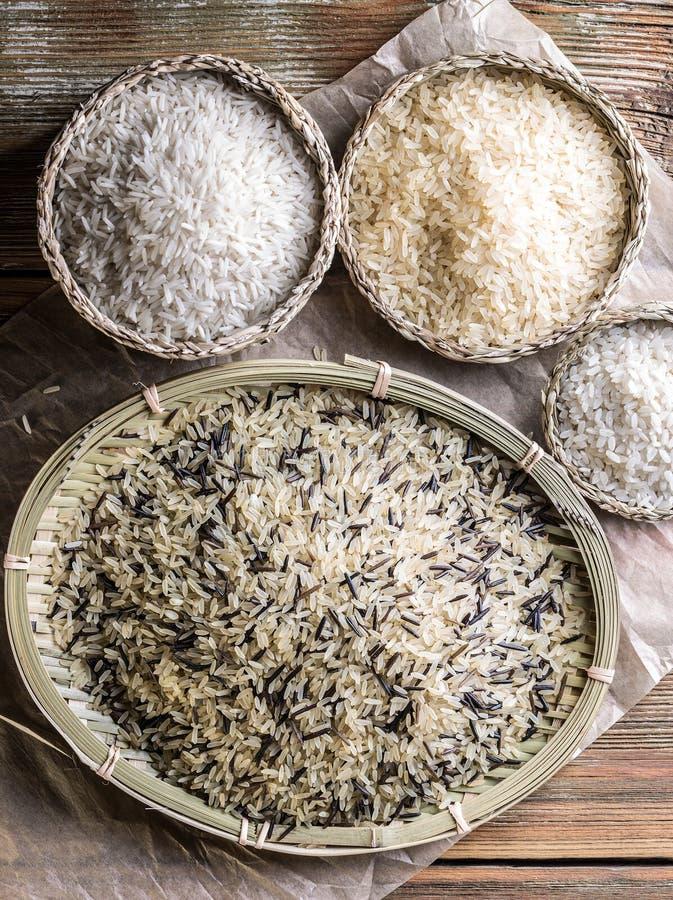 Sortiment av rice arkivbild