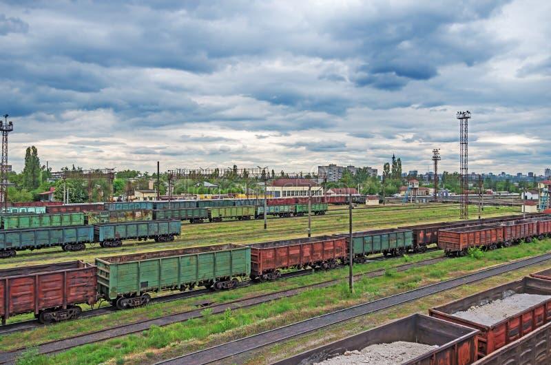 Sorting stations railway stock photos