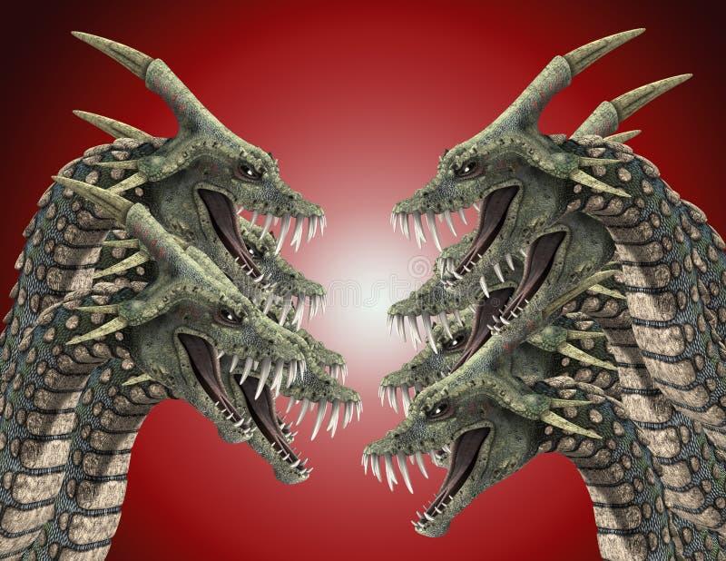 Sorts sur les serpents 2 de monstre illustration stock