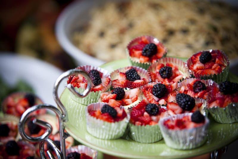 sortujący kąsków cheesecakes fotografia royalty free