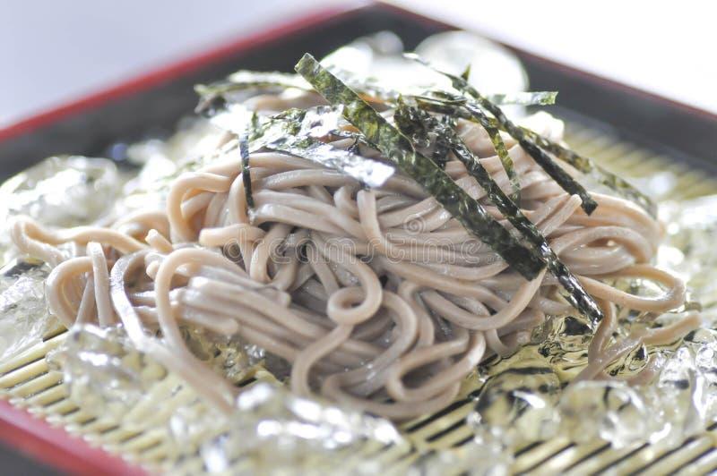 Soruzoba, cold soba, or cold noodle royalty free stock photo