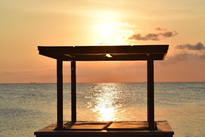 Sorveglianza del tramonto fotografie stock libere da diritti
