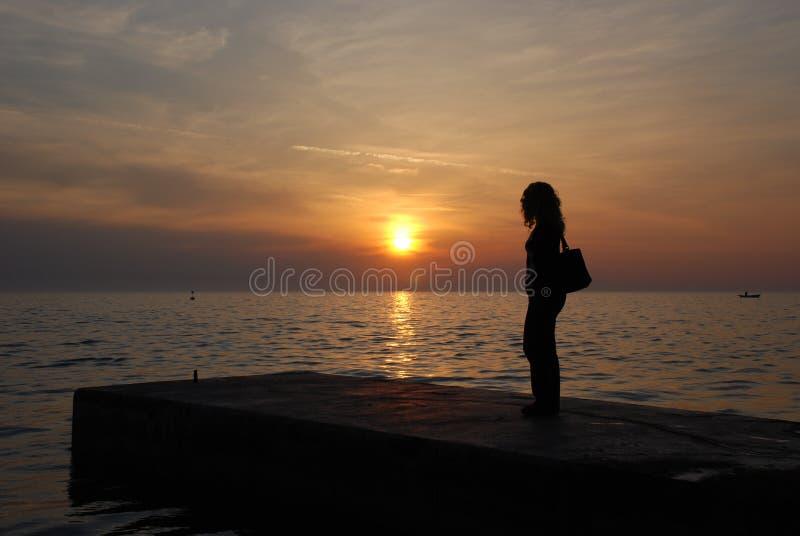 Sorveglianza del tramonto immagine stock libera da diritti