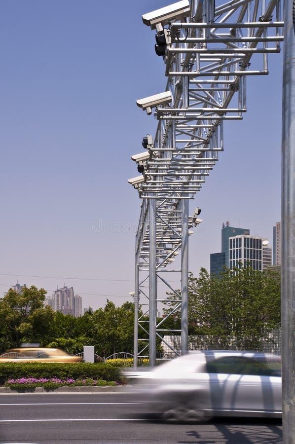 Sorveglianza della macchina fotografica di traffico fotografia stock