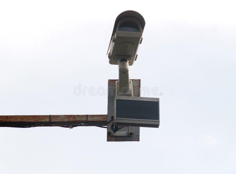 Sorveglianza della macchina fotografica per il monitoraggio di traffico fotografie stock libere da diritti