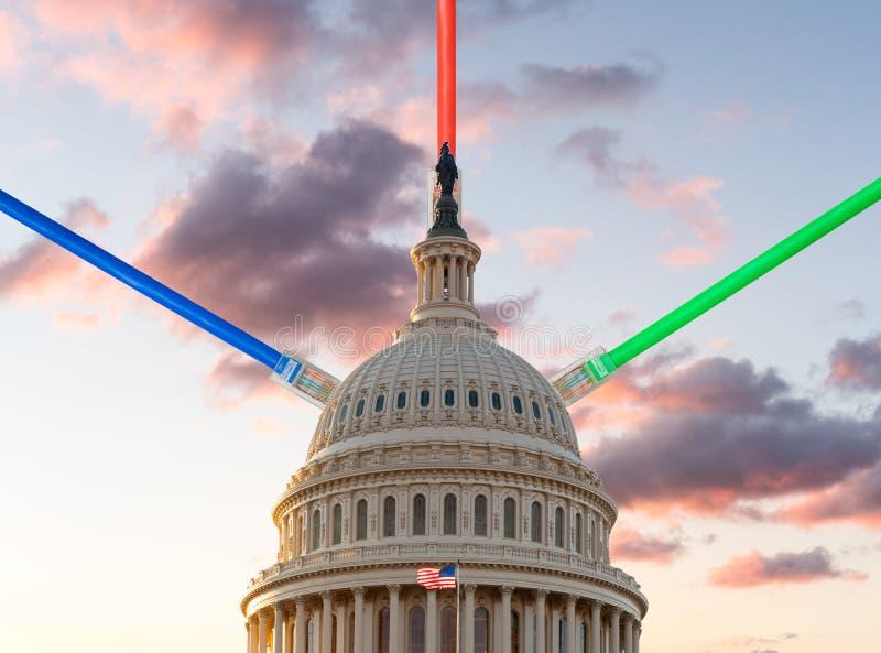 Sorveglianza elettronica o incisione del governo degli Stati Uniti immagine stock libera da diritti