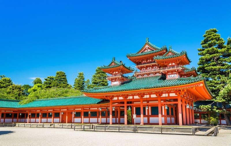 Soryuro, Castle in the corner at Heian Shrine in Kyoto stock photos