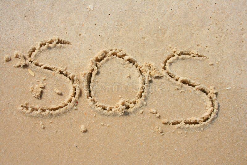 SOS άμμου στοκ εικόνες