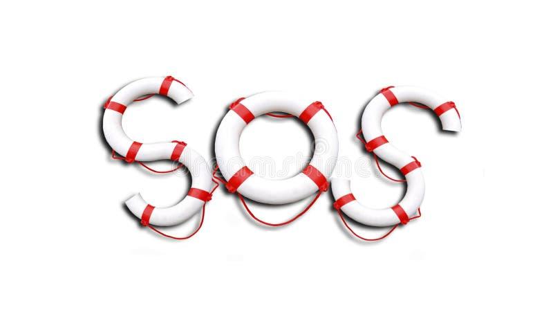 SOS ilustração stock