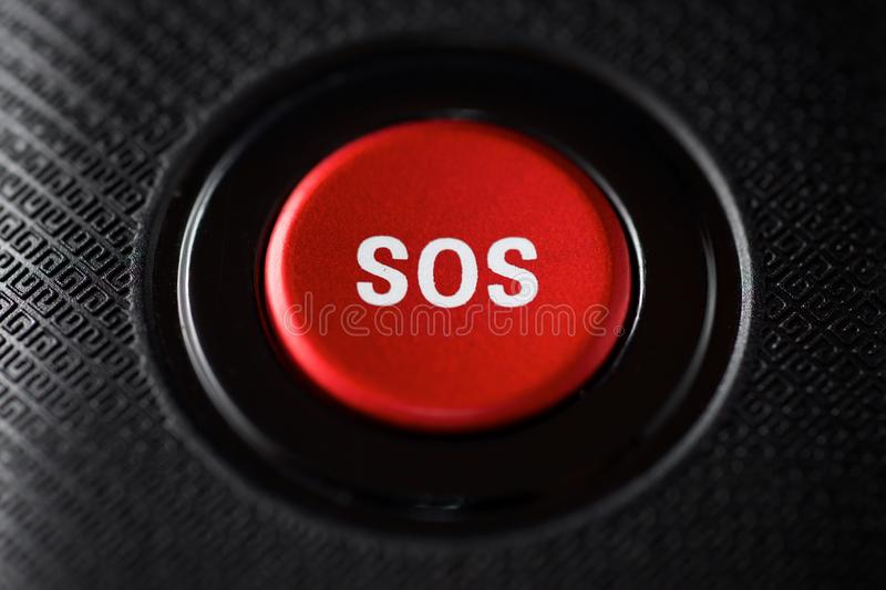 SOS button view royalty free stock image
