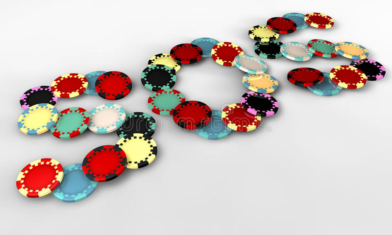 SOS Casino Chips Perspective Royalty Free Stock Photo