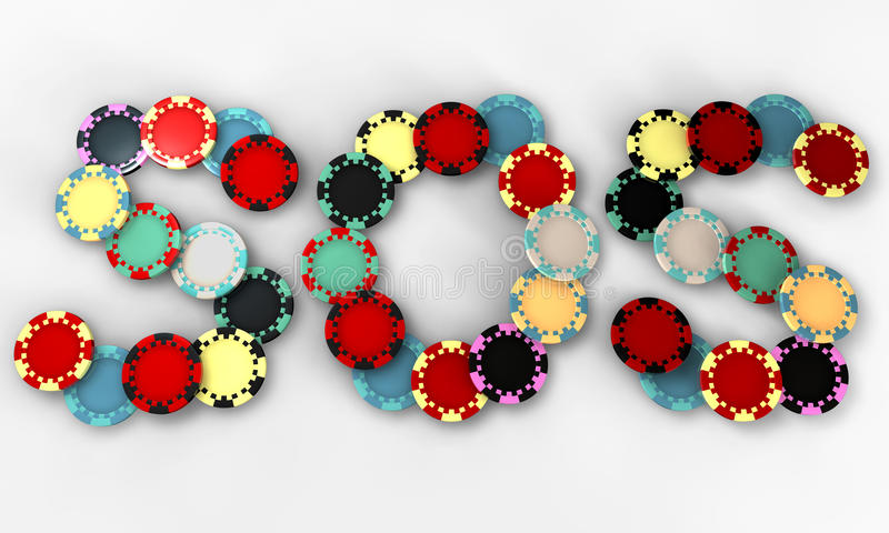 Download SOS Casino Chips Top Royalty Free Stock Images - Image: 26284249