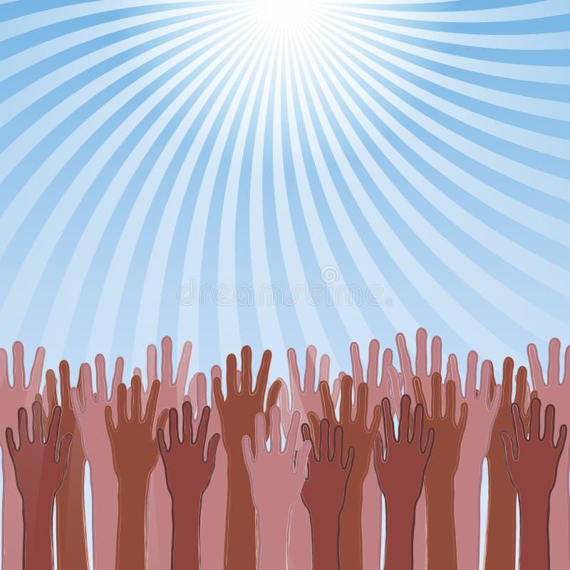Download Sos Concept, Hands Needing Help Stock Vector - Illustration of blood, light: 24714629