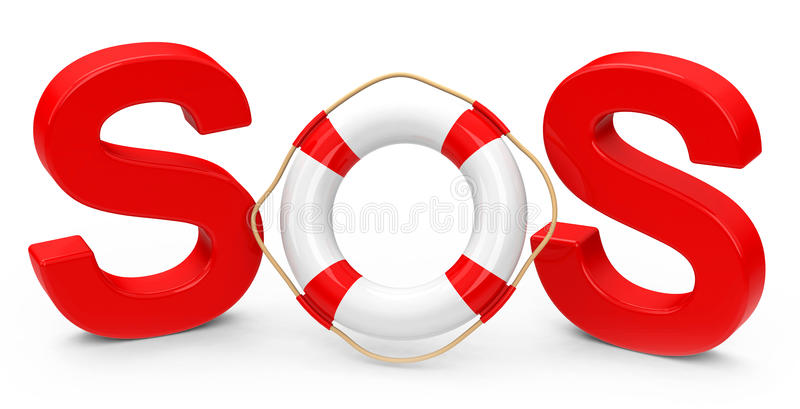 SOS Stock Illustration