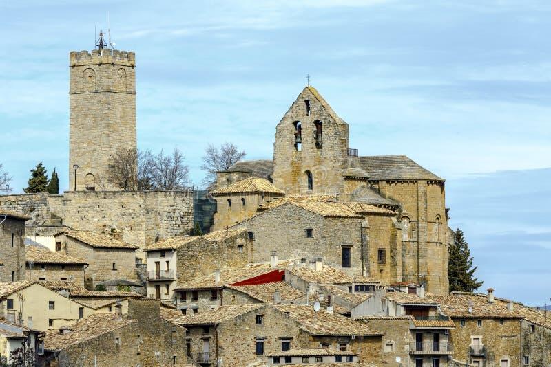 Sos del Rey Catolico, kerk van San Esteban, Navarra Spanje royalty-vrije stock afbeelding