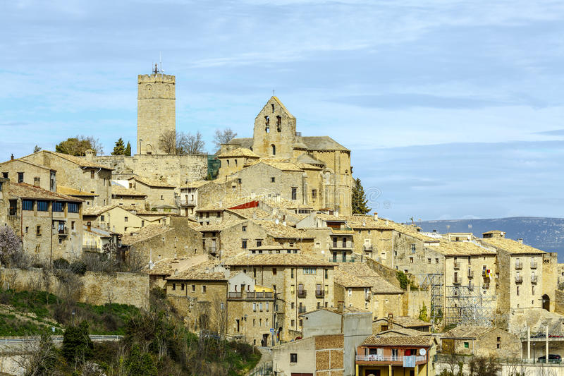 Sos del Rey Catolico, kerk van San Esteban, Navarra Spanje royalty-vrije stock foto's