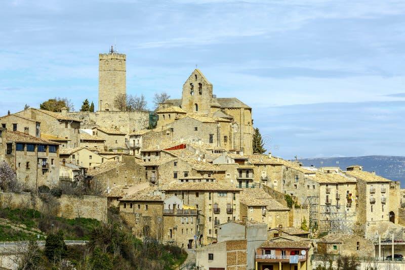 Sos-del Rey Catolico, kyrka av San Esteban, Navarra Spanien royaltyfria foton