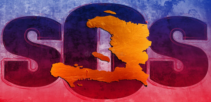 SOS Haïti. illustration de vecteur