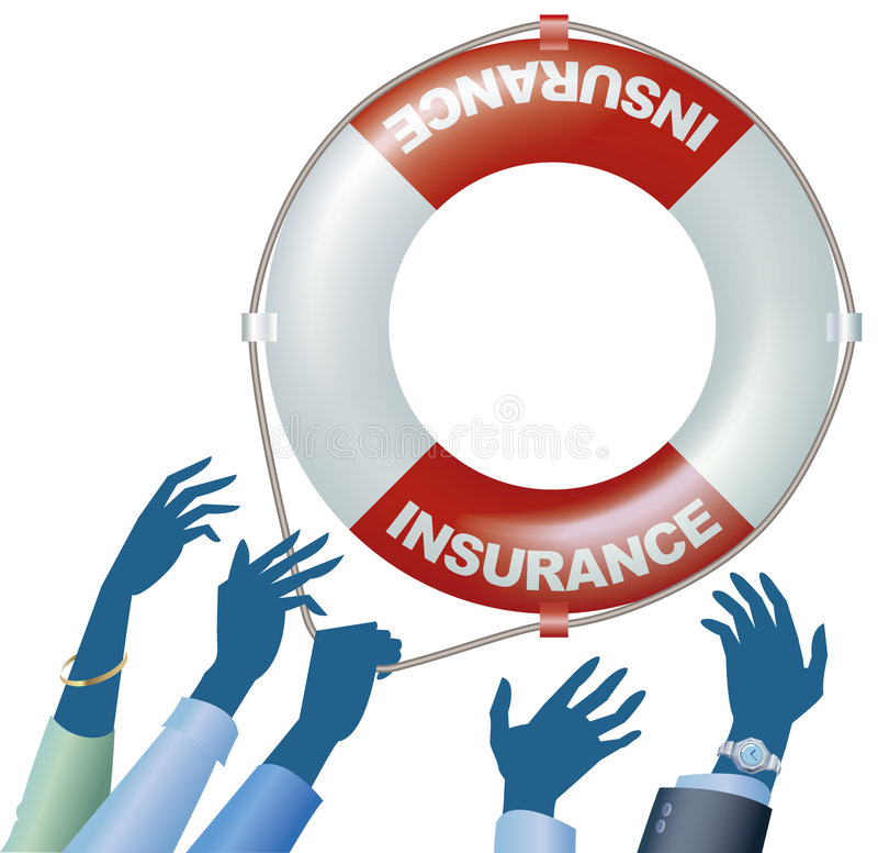 SOS insurance. Hands need an insurance life-saver