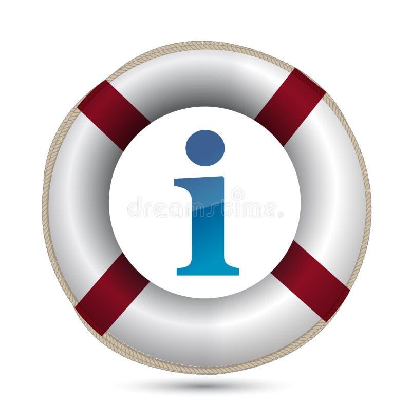 Download SOS Life Buoy Information Design Stock Vector - Illustration: 25177459