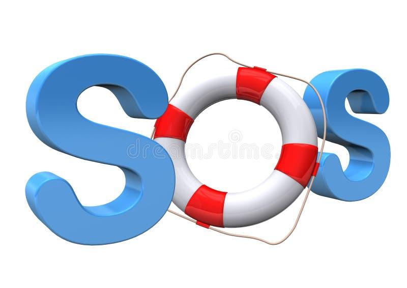 Download SOS Lifebelt stock illustration. Illustration of ringbuoy - 30572947