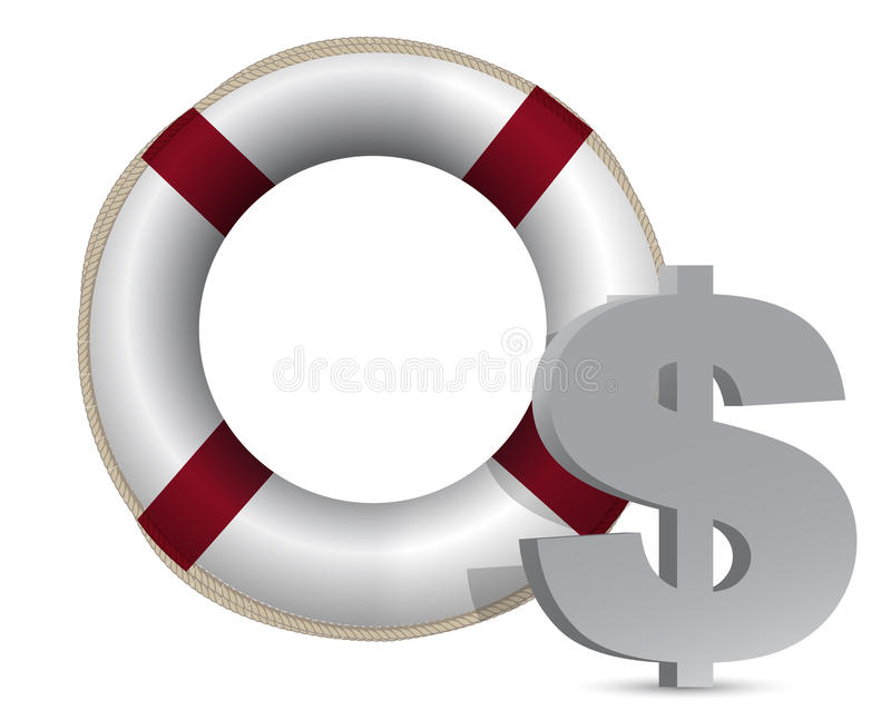Download Sos Lifesaver Dollar Currency Illustration Royalty Free Stock Photos - Image: 22563948