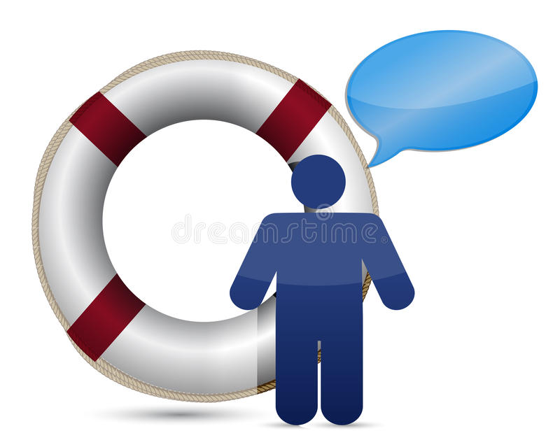 Download Sos Lifesaver Message Icon Stock Image - Image: 27651281