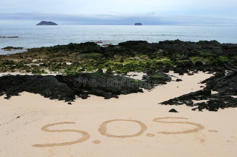 SOS Message stock photo