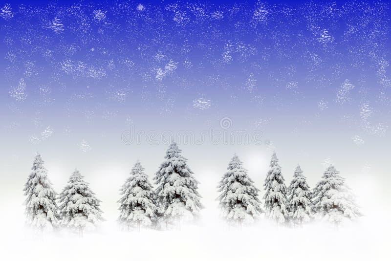 sosen sceny śnieżna zima zdjęcie royalty free