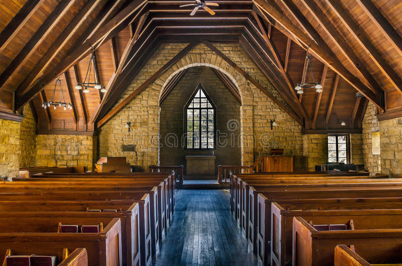 Sosnowa Halna kaplica, Kentucky obraz stock