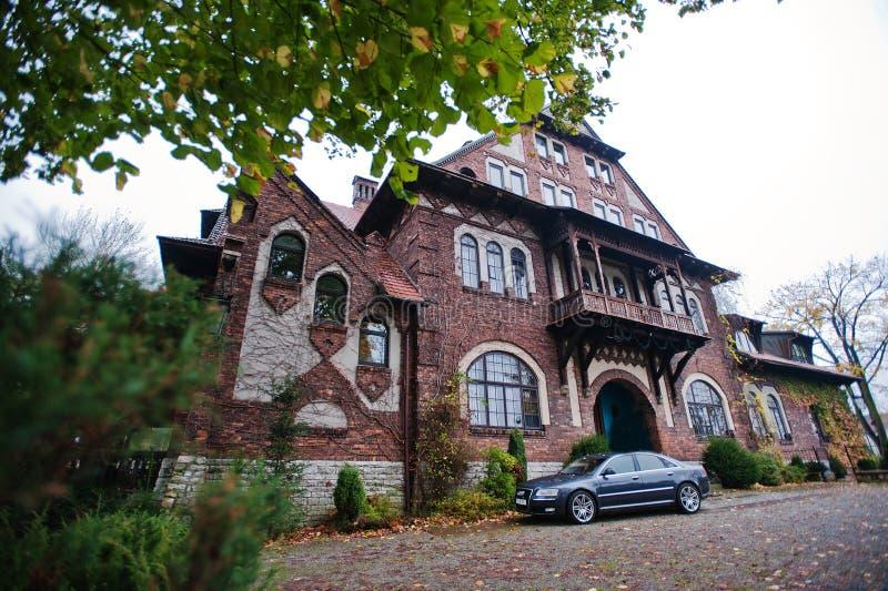 Sosnowiec, Polonia - 23 de octubre de 2014: Audi S6 (Audi A6), RRPP del coche fotografía de archivo libre de regalías