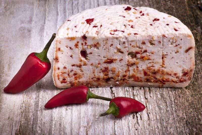 Sosowany ser z korzenny chili zdjęcia stock