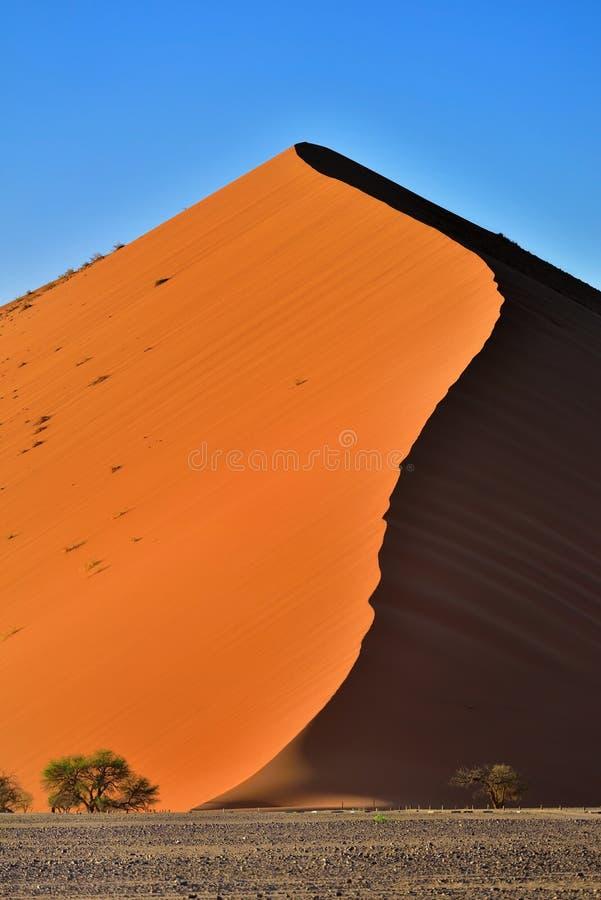 Sossusvlei, het Nationale Park van Namib Naukluft, Namibië stock foto's