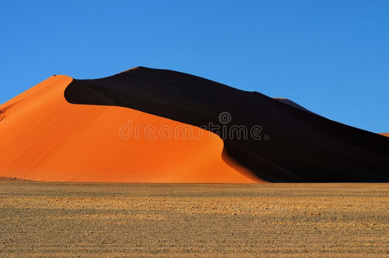 Sossusvlei, parque nacional de Namib Naukluft, Namibia fotografía de archivo libre de regalías