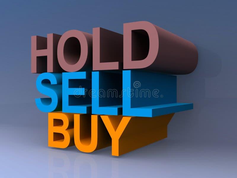 Sosténgase, venda y compre ilustración del vector