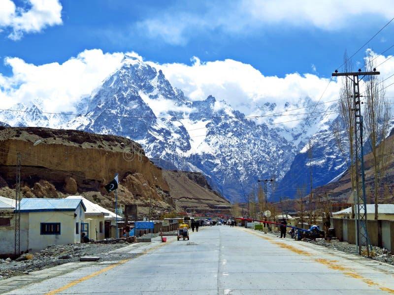 Sost, Karakoram-Landstraße, Pakistan stockbilder