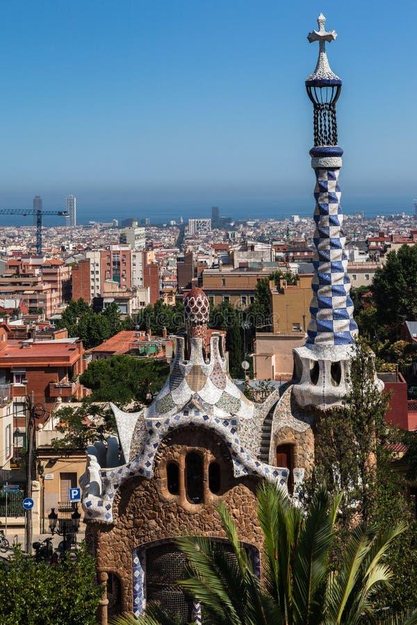 Sosta Barcellona Catalunia Spagna di Guell immagine stock libera da diritti