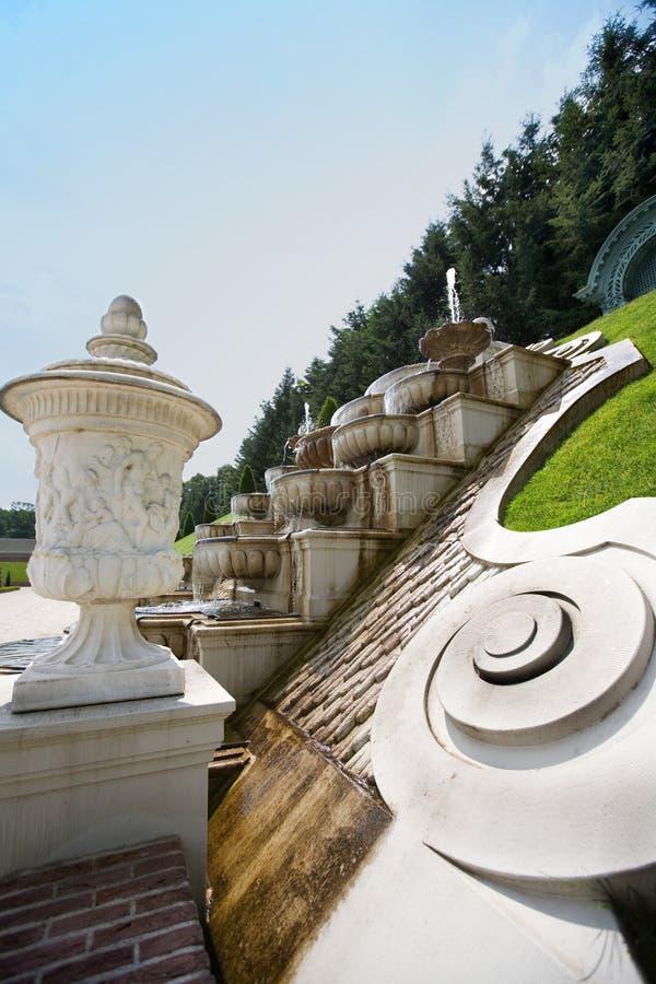 Sosta barrocco con la fontana immagini stock libere da diritti