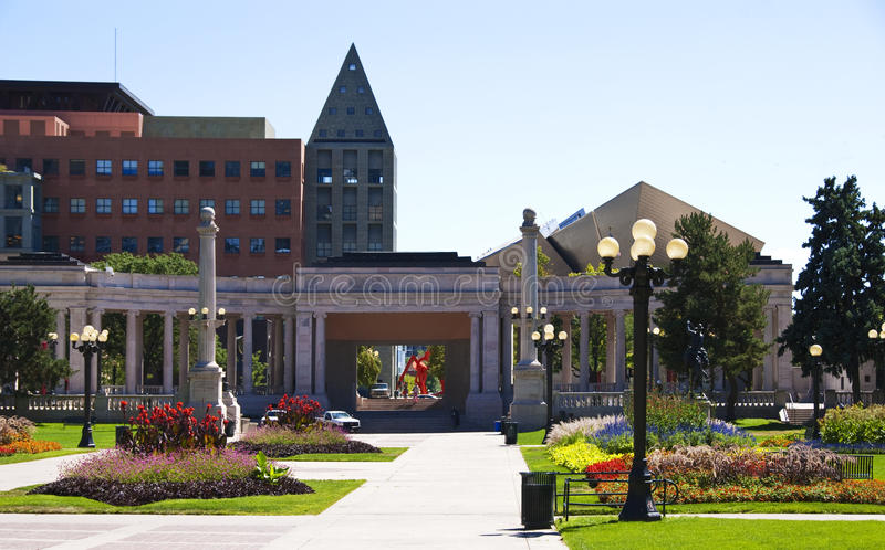 Sosta del centro cittadino a Denver fotografie stock