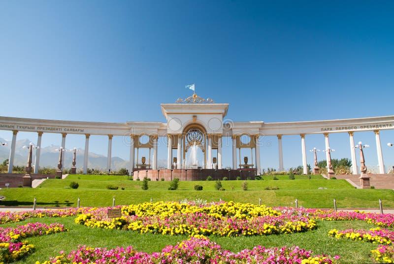 Sosta del primo Presidente a Almaty immagini stock libere da diritti