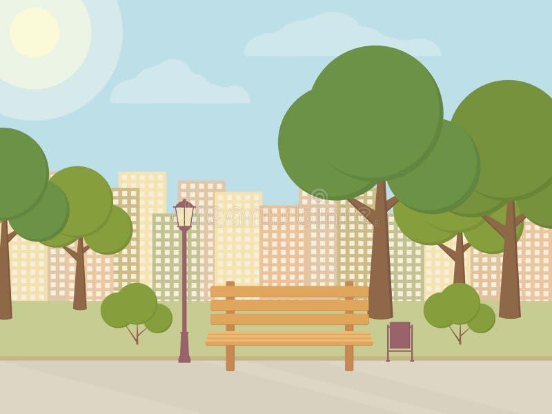 Sosta della città royalty illustrazione gratis
