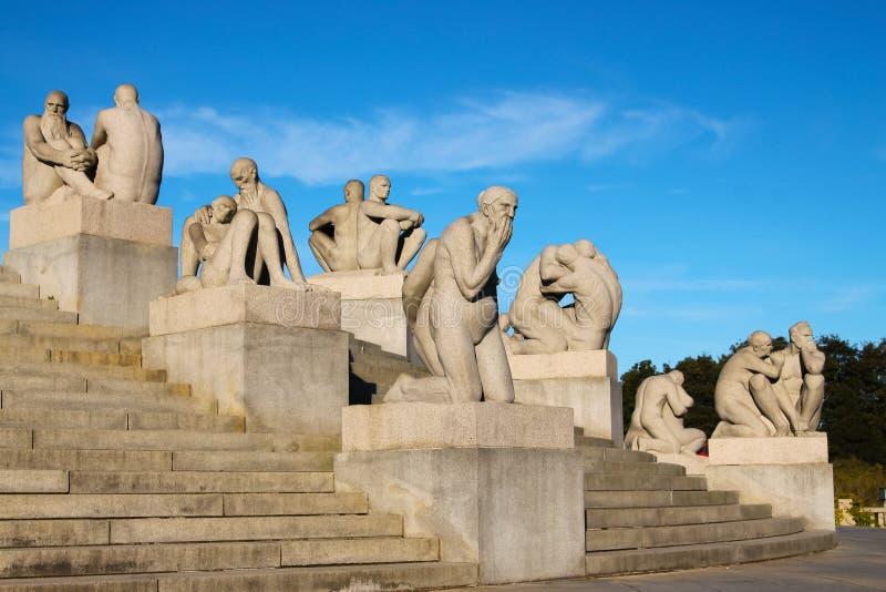 Sosta della scultura di Vigeland a Oslo, Norvegia fotografie stock
