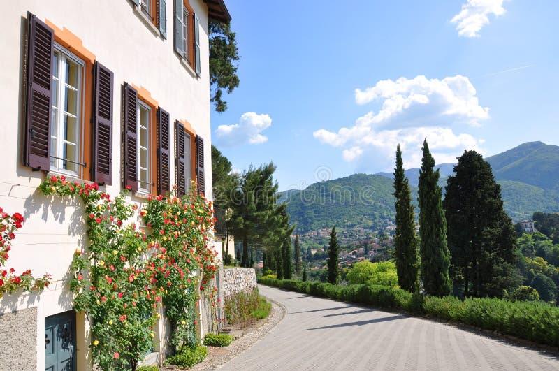 Sosta della villa Serbelloni a Bellagio, Italia fotografie stock