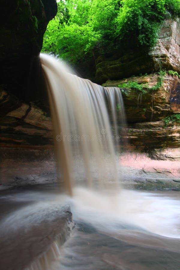 Sosta di condizione affamata della roccia - Illinois fotografia stock