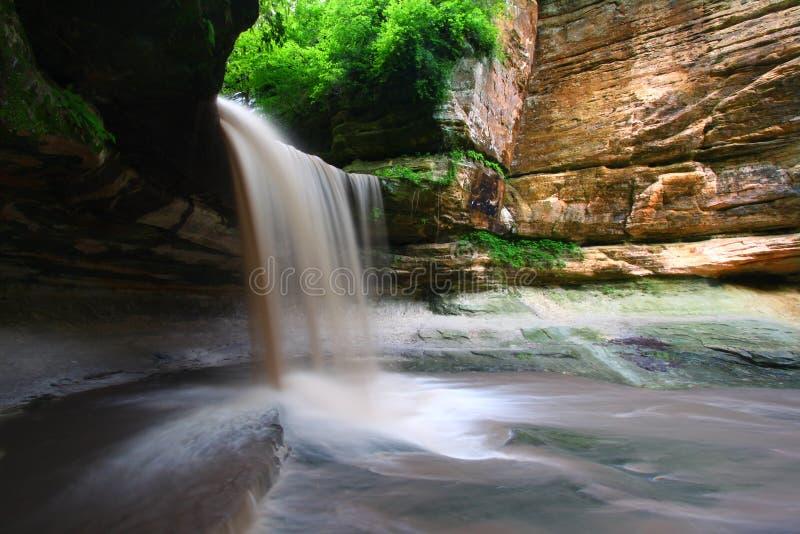 Sosta di condizione affamata della roccia - Illinois fotografie stock
