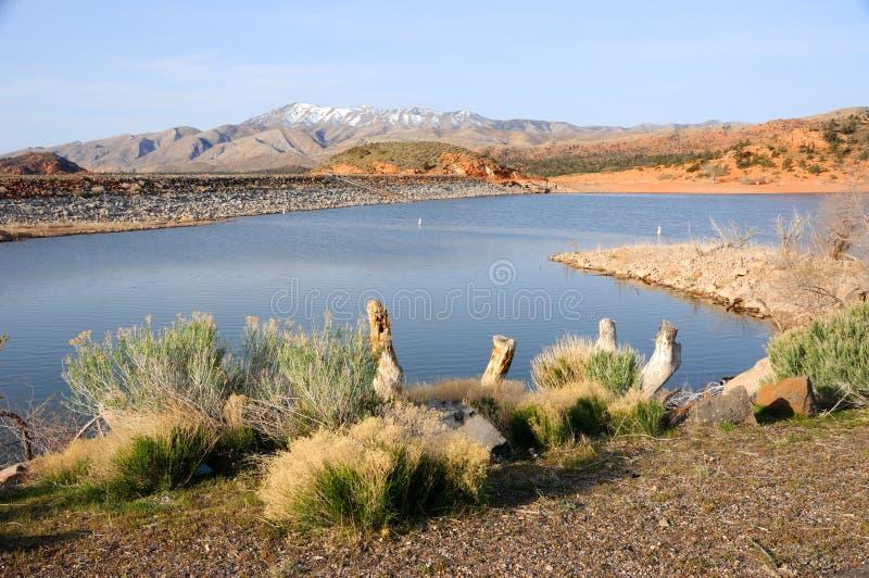 Sosta di condizione del bacino idrico del Gunlock - Utah immagine stock
