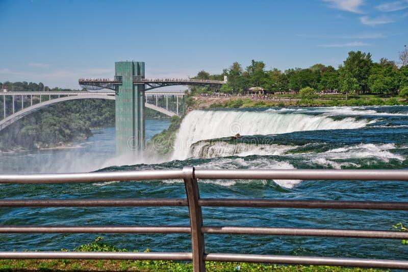 Sosta di condizione del Niagara Falls immagine stock